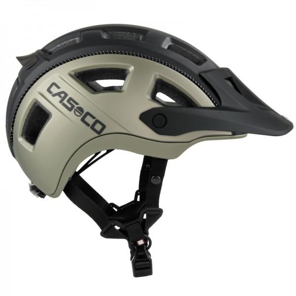 Mountainbike-Helm MTBE2 in schwarz-titan mit matter Strukturoberfläche