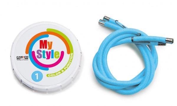 MyStyle Casco Streifen hellblau