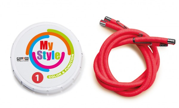 MyStyle Casco Streifen Signal-rot