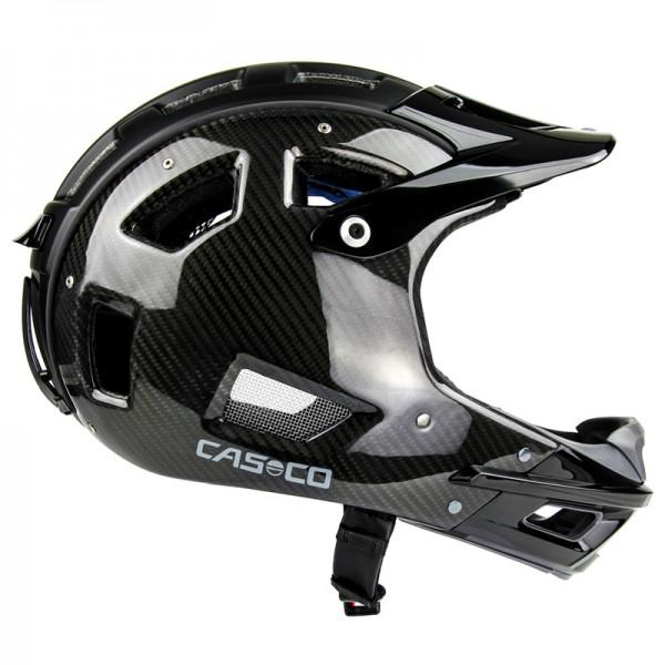 MTB Full Face Fahrradhelm in schwarzer Carbon Optik