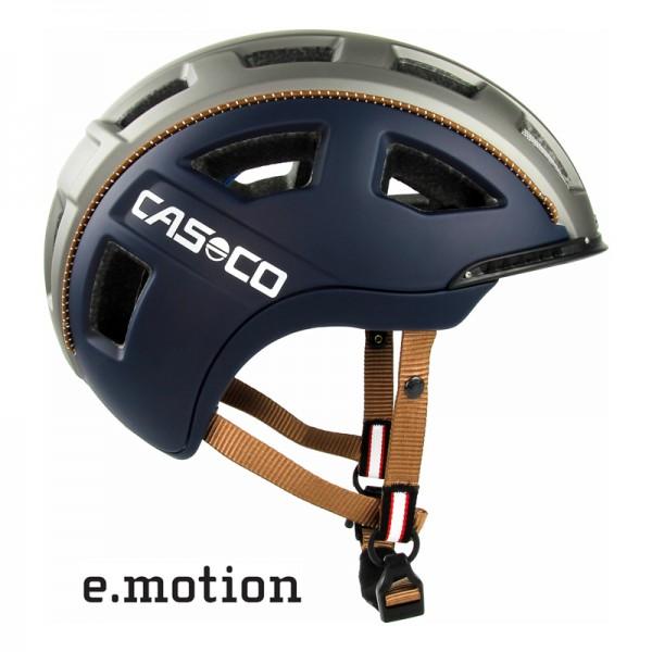 E-bike Helm e.motion in blau matt - ein Casco Fahrradhelm für die E-Biker