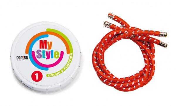 MyStyle Casco Streifen rot