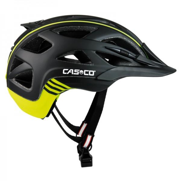 Fahrradhelm Activ2 in schwarz matt mit Neondetails für Damen und Herren