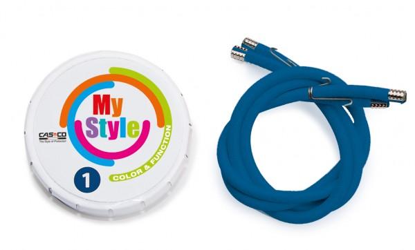 MyStyle Casco Streifen blau