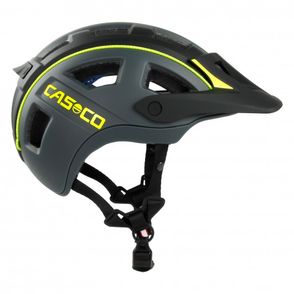 Mountainbike-Helm MTBE2 in schwarz-neongelb