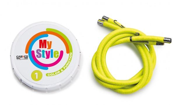 MyStyle Casco Streifen Signal-gelb