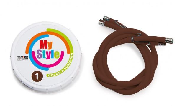 MyStyle Casco Streifen braun