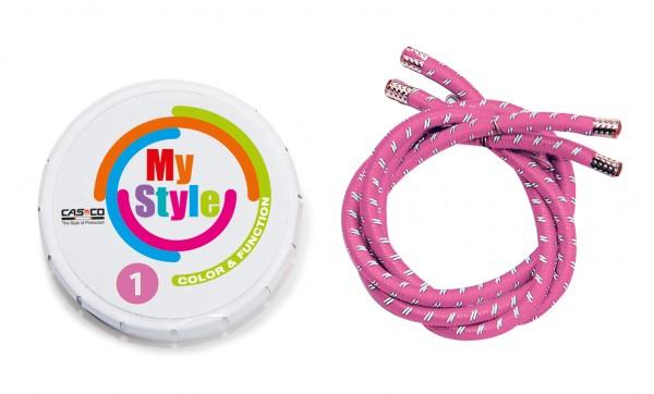 MyStyle Casco Streifen pink