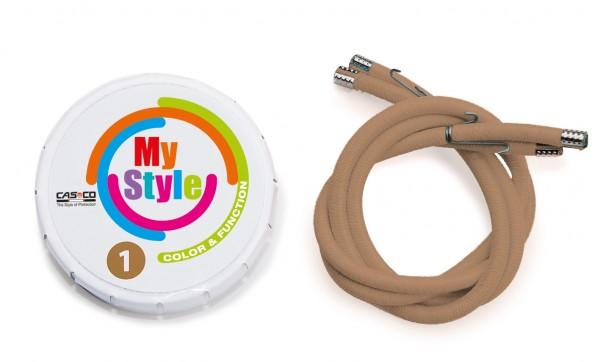MyStyle Casco Streifen hellbraun