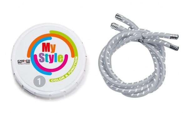 MyStyle Casco Streifen silber