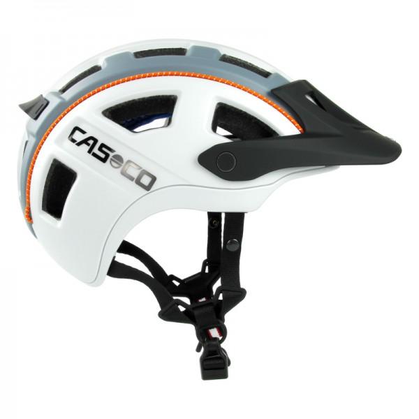 Fahrradhelm Casco MTBE 2- der Mountainbike-Helm in grau mit orangen und matten Details